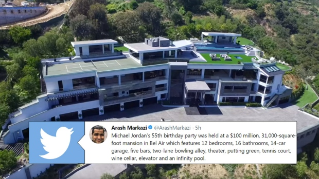 Michael Jordan Celebrated His Birthday Party At A 100 Million Mansion