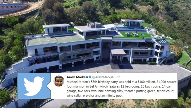 Michael jordan celebrated his birthday party at a 100 million mansion article bardown