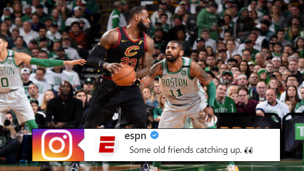 LeBron James and Kyrie Irving looked like old pals ahead of the 2018 NBA  All-Star Game - Article - Bardown 0169ce166