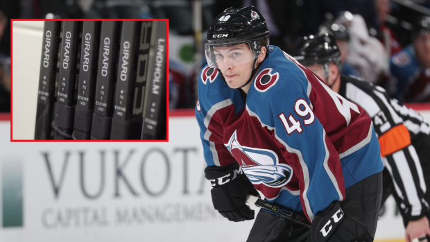 Samuel Girard Of The Avalanche Has One Of The Most Unique Tape Jobs In Hockey Article Bardown