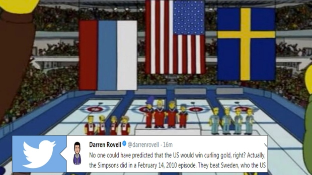the simpsons predicted usa would beat sweden for a gold in curling