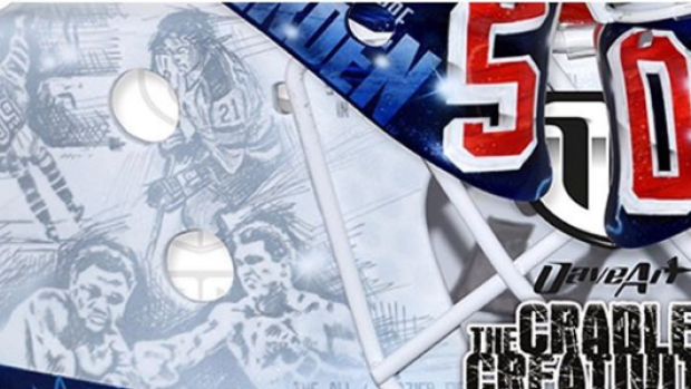 Henrik Lundqvist Unveils New Rangers Mask That Honours 50 Years Of