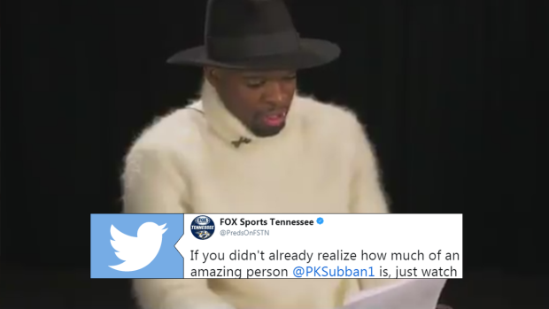 P K  Subban shared a touching letter he received about a boy