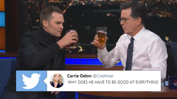 Tom Brady, Stephen Colbert