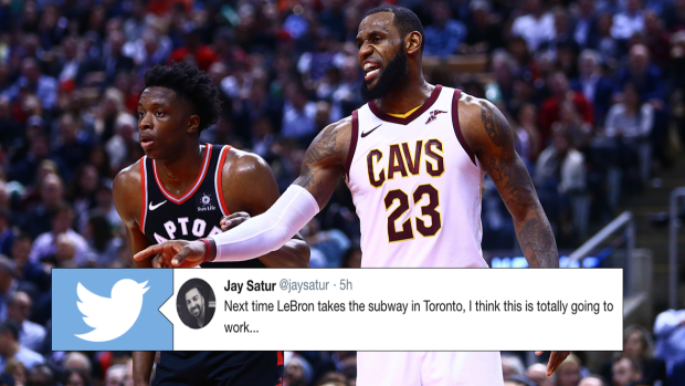 aa67af65780e Raptors fans are now trying to recruit LeBron to Toronto with subway ad -  Article - Bardown