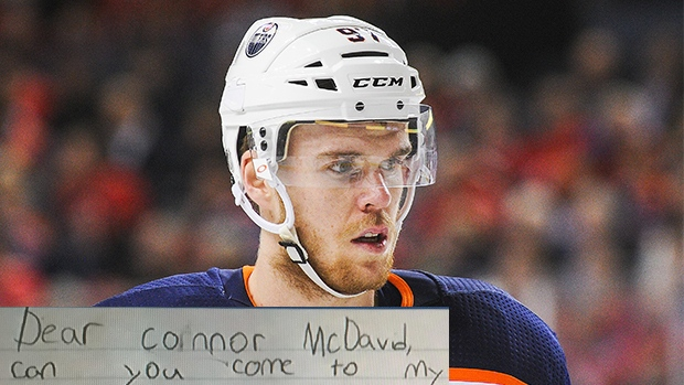 Young Oilers Fan Writes Letter To Connor Mcdavid Inviting