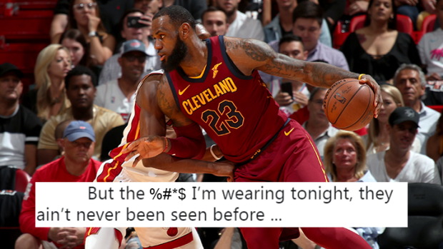 The shoes LeBron wore tonight had fans thinking that he s leaving ... 20038d0b9