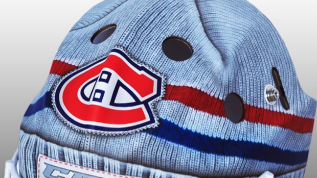 Michael McNiven s spectacular new Canadiens mask makes it look like he s  wearing a toque - Article - Bardown b098c4f34a2