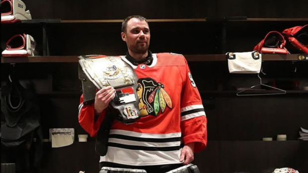 Chicago Blackhawks Emergency Backup Goalie An Accountant Comes