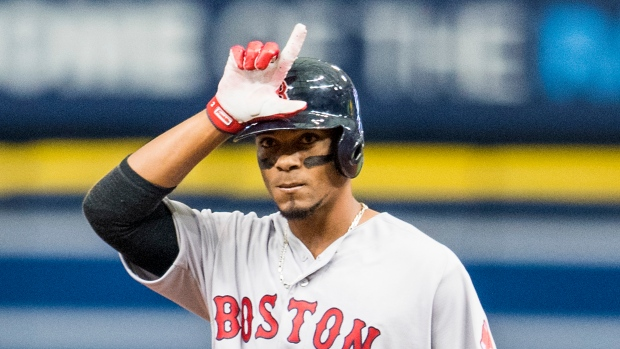 Xander Bogaerts Hits A Double Busts Out The Fortnite Dance To