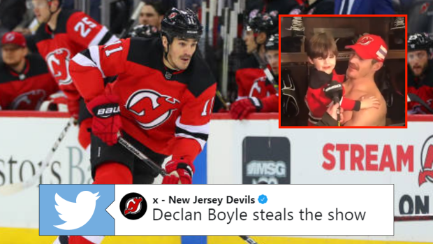 buy popular d057d b1c3f Brian Boyle shares adorable moment with son Declan after ...