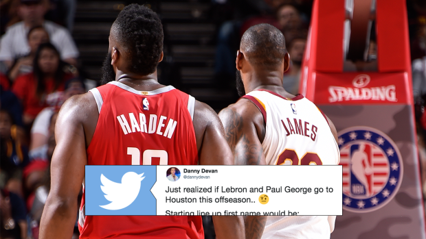 new style 0bcaf 5fbf4 NBA fan notices bizarre detail about Chris Paul, Paul George ...