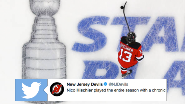 35b779d5c86 Nico Hischier is the latest NHLer to reveal he had been playing through  chronic pain - Article - Bardown