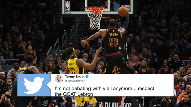 dcc6307e87ad Basketball world reacts to LeBron James  monumental heroics in Game 7 win  over Pacers - Article - Bardown