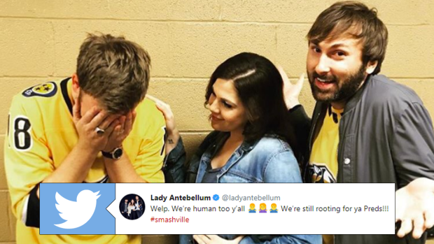 Lady Antebellum botched the American anthem ahead of Preds
