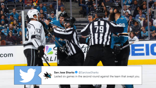 284d9e6a The Los Angeles Kings and the San Jose Sharks, both beat by the ...