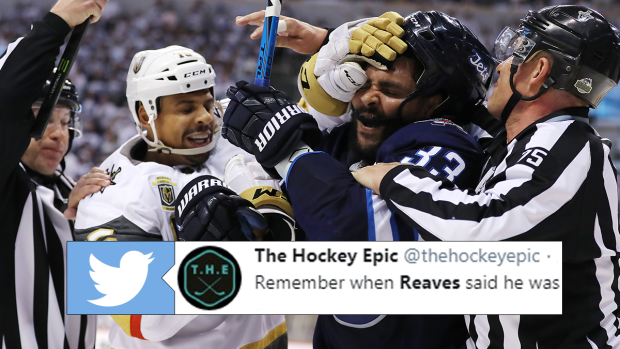 d1e6eca4 Ryan Reaves' brother defended him on Twitter after poorly-aged quote -  Article - Bardown