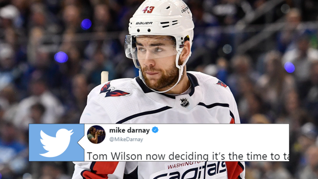 info for 03fb0 39768 Fans can't believe Tom Wilson is trying to call out a double ...