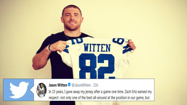 45b198f6276 Jason Witten explains why he gave Eagles' Zach Ertz the only jersey he ever  gave away in 15 years - Article - Bardown