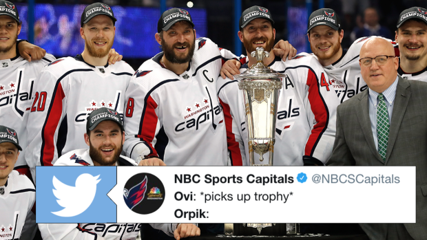3d5f5eb1436 Orpik gave Ovechkin advice on what to do with the Prince of Wales Trophy  after Game 7 win - Article - Bardown