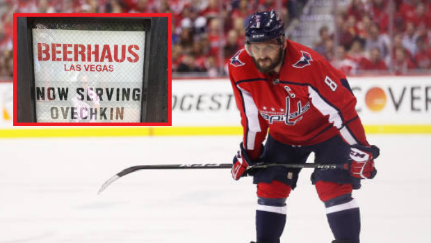 A Las Vegas restaurant takes a jab at Washington Capitals captain Alex Ovechkin.