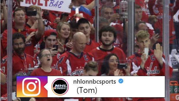 Washington capitals fans cheer during Game 3 of the Stanley Cup Final.