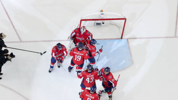 Washington Capitals celebrate Game 4 victory