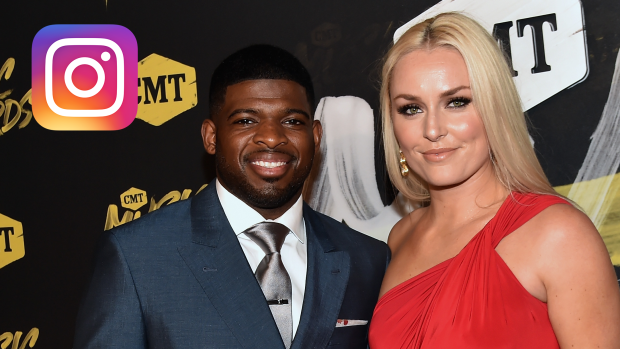 P K Subban Amp Lindsey Vonn Took To Instagram To Make Their