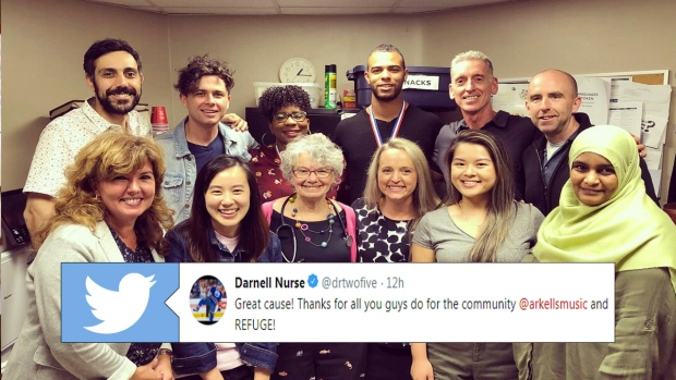 Arkells, Darnell Nurse and REFUGE employees