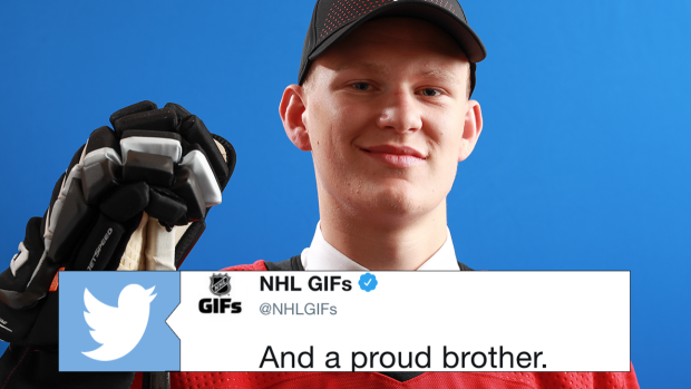 Brady and Matthew Tkachuk shared a special moment after