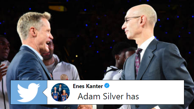 cfda2ae4e Enes Kanter absolutely roasted NBA Commissioner Adam Silver after DeMarcus  Cousins signed with GS - Article - Bardown