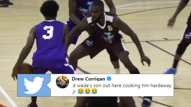 Dwyane Wade's 16-year-old son was showing off some serious moves in
