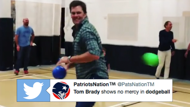 This chaotic game of dodgeball starring Tom Brady and his family is
