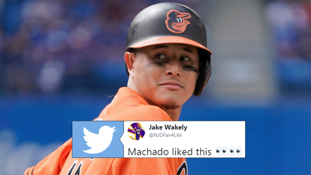 online store 5b952 b5450 Manny Machado sparked trade rumours by liking a jersey swap ...