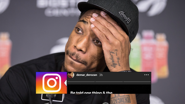 184937b3a258 DeMar DeRozan posted an emotional Instagram story suggesting he will be  traded from the Raptors - Article - Bardown