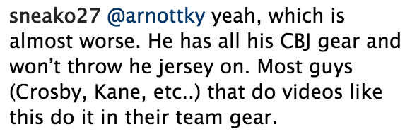 Apparently something as simple as practicing in a jersey that s not one of  your NHL team can stir fans up. d22dc6a6e