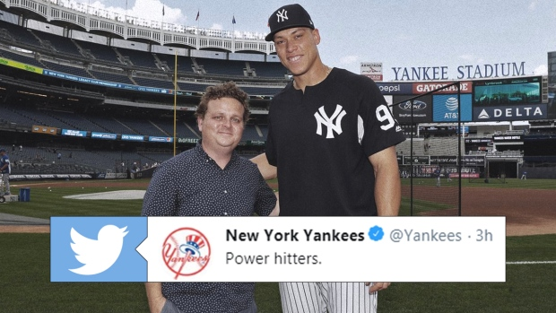 the best attitude 1be5d 2591d Aaron Judge finally got to meet one his baseball idols on ...