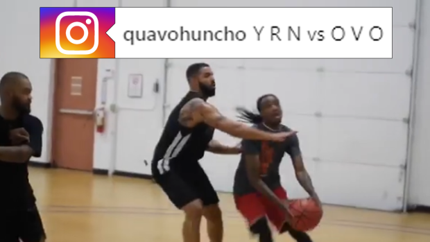 Drake And Quavo Going At Each Other In Pick Up Is The Nba Celebrity Game Of Our Dreams Article Bardown