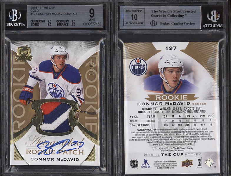Extremely Rare Mcdavid Rookie Card 910 Mint Is On Pace To Sell