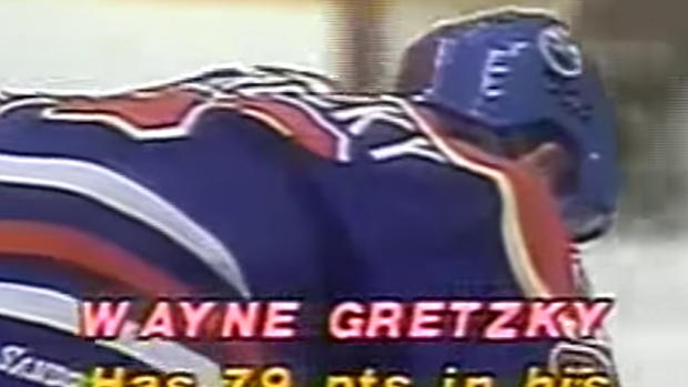 This old TV graphic of Gretzky would look ridiculous in