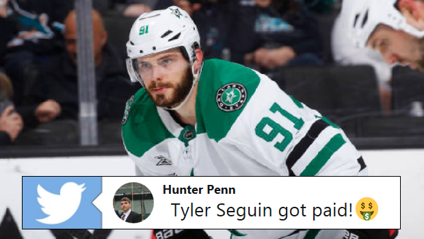 f73f92d99d8 Tyler Seguin just got straight PAID and the hockey world is having a blast  on Twitter - Article - Bardown