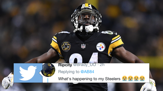 9e60c491be7 Antonio Brown has Steelers fans freaking after bold response to someone on  Twitter - Article - Bardown