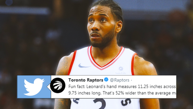 The Raptors Shared An Astonishing Photo Showing Off How Big Kawhi S Hands Really Are Article Bardown