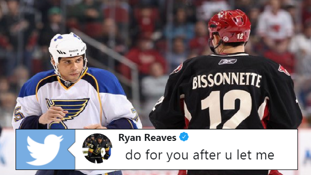 newest d2f8f bfe3d Ryan Reaves had the perfect chirp on Paul Bissonnette ...