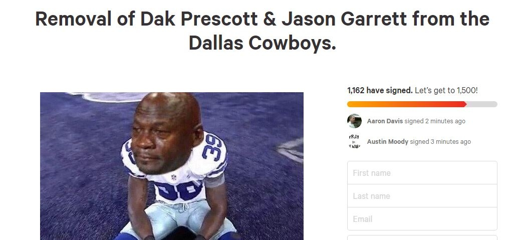 Angry Cowboys fan starts online petition in hopes of having