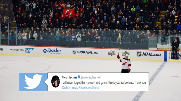 brand new 44d54 07b58 Nico Hischier got an incredible standing ovation before the ...
