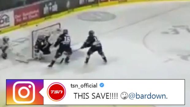 German Goaltender Makes Unthinkable Kick Save To Prevent Sure Goal