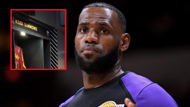 dfd4fa83c40 It looks like the Cavs turned LeBron's old locker room spot into a towel  closet - Article - Bardown