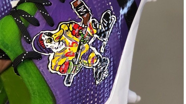 8fd5908640c90 Vikings' Adam Thielen is a legend for these Mighty Ducks cleats - Article -  Bardown