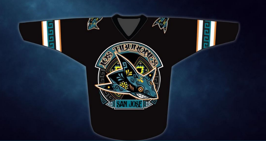 the best attitude 25a33 8da77 The San Jose Sharks are rocking possibly the coolest warm up ...